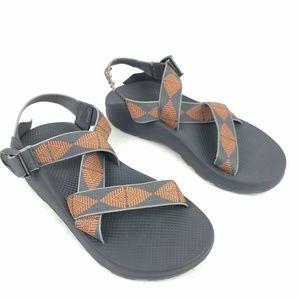 Chaco Mega Z Cloud Sandals  Rune Gray Orange Sport